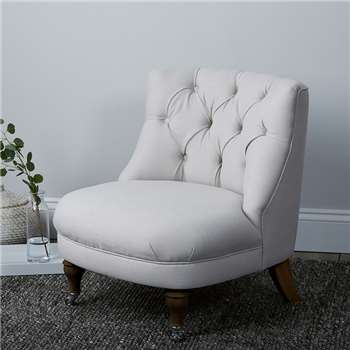 Richmond Cotton Tub Chair, Silver Cotton (74 x 64cm)