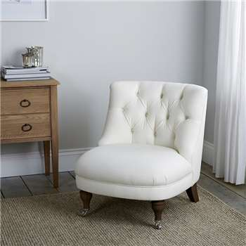 Richmond Cotton Tub Chair, White (74 x 64cm)