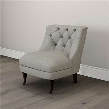 Richmond Tweed Tub Chair, Tweed Mid Grey (74 x 64cm)