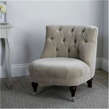Richmond Velvet Tub Chair, Stone Velvet (H74 x W64 x D72cm)