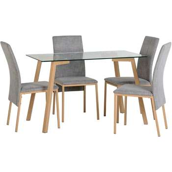 Riley Ave - Reba Dining Table and 4 Chairs