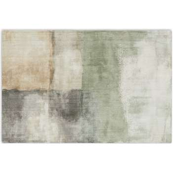 Rimoldi Painterly Tufted Rug, Soft Grey & Green (H160 x W230cm)