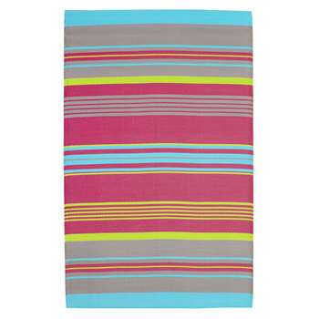 RIO polypropylene stripe outdoor rug, multicoloured (120 x 180cm)