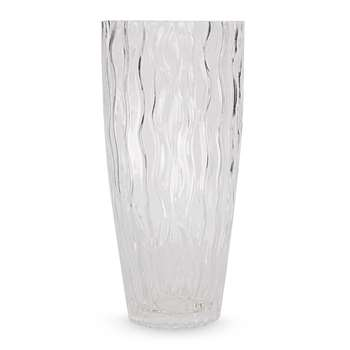 Rippled Glass Vase (25 x 12cm)