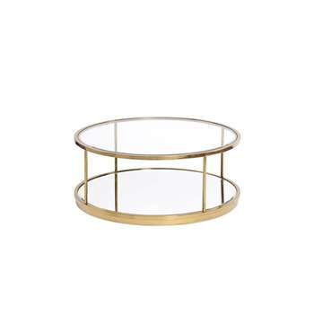 Rippon Brass Circular Coffee Table (H36 x W90 x D90cm)