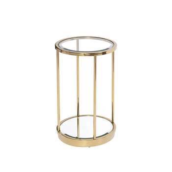 Rippon Brass Circular Side Table (H61 x W38 x D38cm)