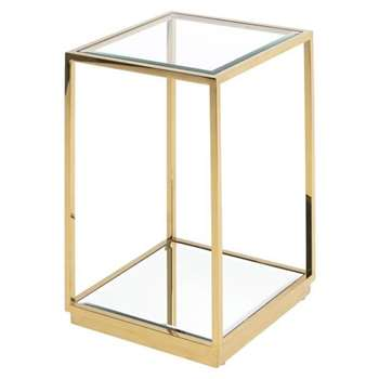 Rippon Brass Square Side Table (H66 x W45 x D45cm)