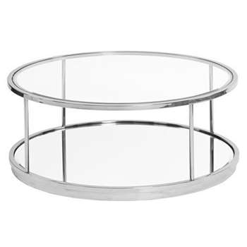 Rippon Silver Circular Coffee Table (H36 x W90 x D90cm)
