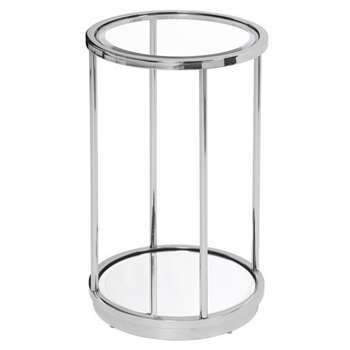 Rippon Silver Circular Side Table (H61 x W38 x D38cm)