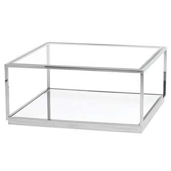 Rippon Silver Square Coffee Table (H40 x W90 x D90cm)