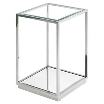 Rippon Silver Square Side Table (H66 x W45 x D45cm)