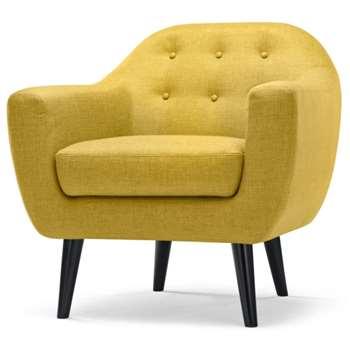 Ritchie Armchair, Ochre Yellow (86 x 83cm)