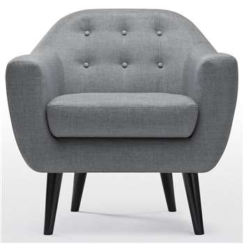 Ritchie Armchair, Pearl Grey (86 x 83cm)