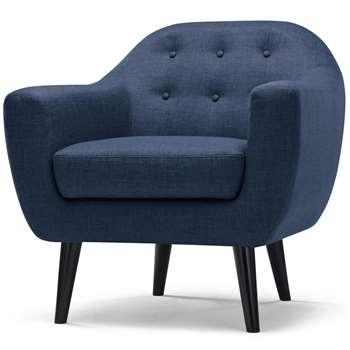 Ritchie Armchair, Scuba Blue (86 x 83cm)