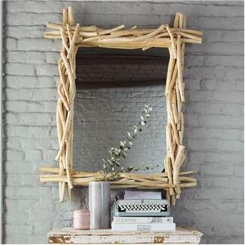 RIVAGE driftwood mirror H 113cm