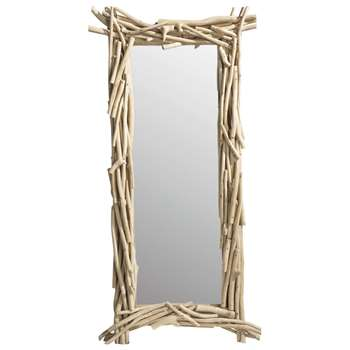 RIVAGE wooden mirror H 153cm