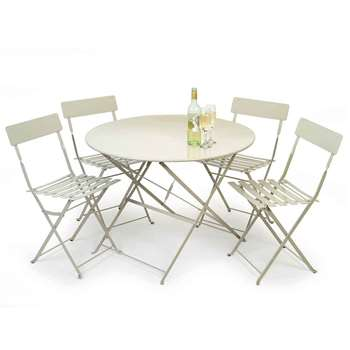 Garden Trading Rive Droite Bistro Set, Large in Clay (H71 x W90 x D90cm)