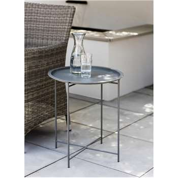 Rive Droite Bistro Tray Table in Charcoal - Steel (52 x 46cm)