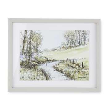 River Path Framed Print (H26 x W33cm)
