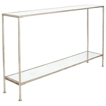 Rivulet Console Table, Large - Antiqued Silver (80 x 140cm)