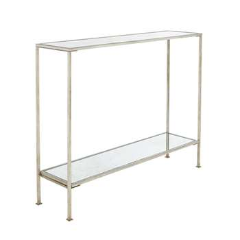 Rivulet Console Table, Small - Antique Silver (80 x 100cm)