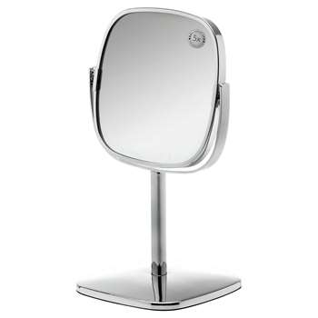 Robert Welch Burford 18/10 Stainless Steel Pedestal Mirror (30.5 x 18.5cm)