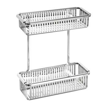 Robert Welch - Burford Shower Basket - Double (H34 x W29 x D12cm)