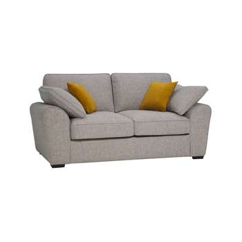 Robyn Spa with Mustard Fabric 2 Seater Deluxe Sofa Bed (H88 x W191 x D98cm)