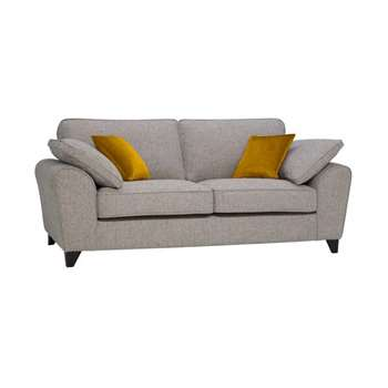 Robyn Spa with Mustard Fabric 3 Seater Sofa (H88 x W212 x D98cm)