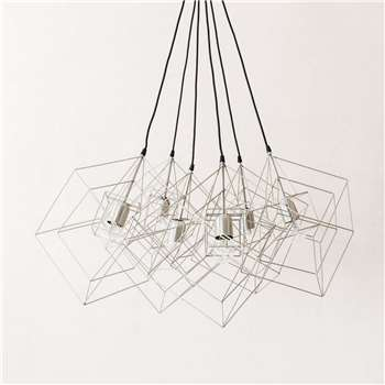 Rocco Silver Six Cluster Light (Height 150cm)