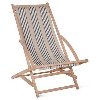 Rocking Deck Chair in Clay Stripe - Beech (86 x 56cm)