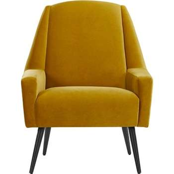 Roco Accent Chair, Old Gold Velvet (99 x 73cm)