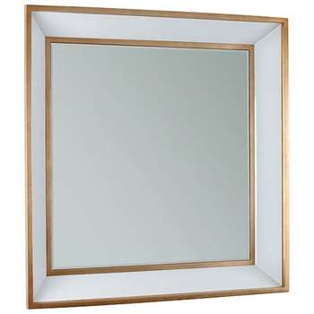 Roedera Wall Mirror - Gold Gilded Edging and White Glass (80 x 80cm)