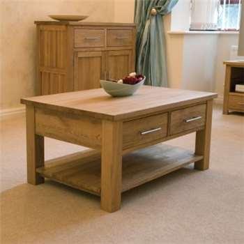 Rohan Oak Two-Drawer Coffee Table (43 x 90cm)