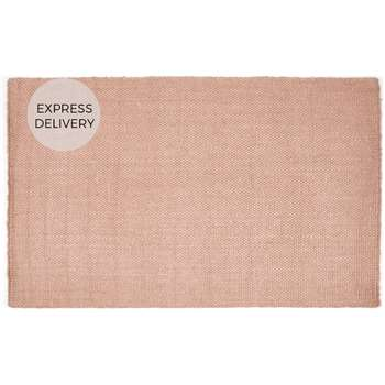 Rohan Woven Jute Extra Large Rug, Soft Pink (H200 x W300 x D1.7cm)