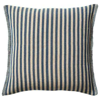 Roku Thin Stripe Cushion Cover - Indigo (H60 x W60cm)