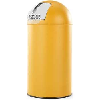 Rollo Push Bin 50l, Yellow (H75 x W35 x D35cm)