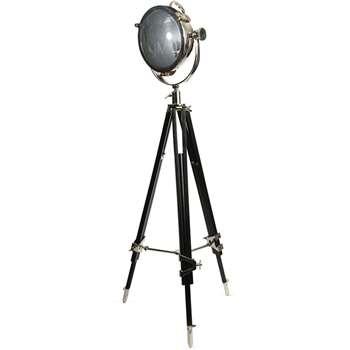 Rolls Headlamp with Industrial Black Wooden Tripod 157 x 90cm