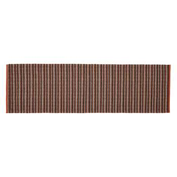 Roma Multi-Coloured Wool And Cotton Flat Weave Runner (H75 x W250cm)