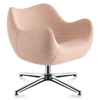 Roman Modzelewski Soft Cross Swivel Armchair, Synergy Pink (H74 x W79 x D79cm)