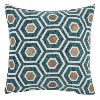 ROMBO Green Cushion Cover with Graphic Print (H40 x W40cm)