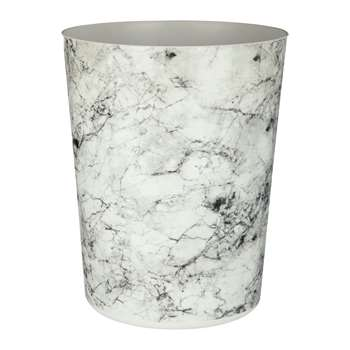 Rome Marble Effect Waste Bin H25cm