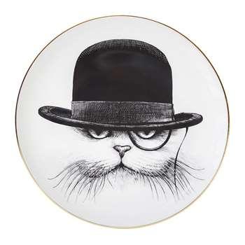 Rory Dobner - Perfect Plates - Cat Hat Down - Medium (21 x 21cm)