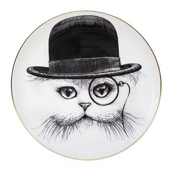 Rory Dobner - Perfect Plates - Cat in Hat - Medium (21 x 21cm)
