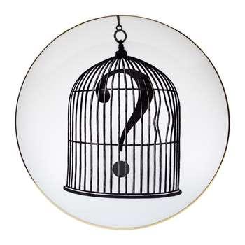 Rory Dobner - Perfect Plates - Question Mark Birdcage - Medium (21 x 21cm)