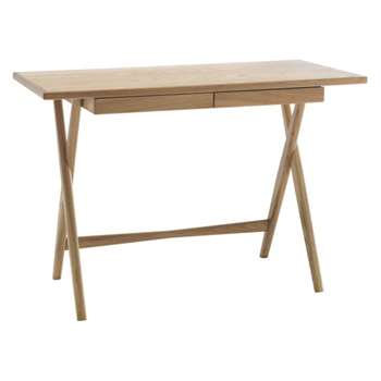 Roscoe Oak Desk with Storage Drawer (Width 50cm)