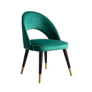 Rossini Dining Chair Bottle Green (H84 x W53 x D57cm)