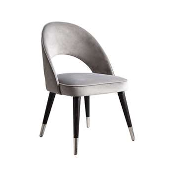 Rossini Dining Chair Dove Grey (H84 x W53 x D57cm)