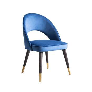 Rossini Dining Chair Navy (H84 x W53 x D57cm)