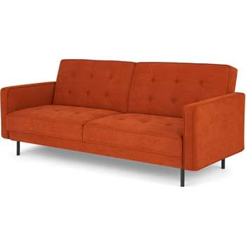 Rosslyn Click Clack Sofa Bed, Sedona Orange (H82 x W210 x D84cm)
